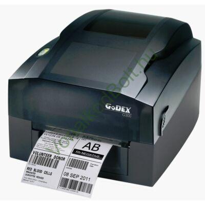 GODEX G300 203dpi Termo Transzfer címke és vonalkódnyomtató - USB, LAN (ETHERNET) interfész