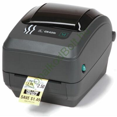 Zebra GK420t 203 dpi Termo Transzfer és Direct Termo asztali címke- vonalkód-nyomtató