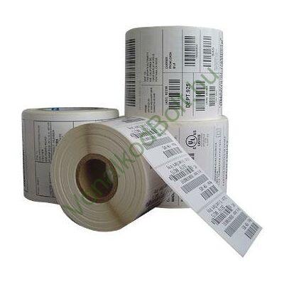 Címkenyomtatás fekete festékszalaggal öntapadós papír címkére, etikettre