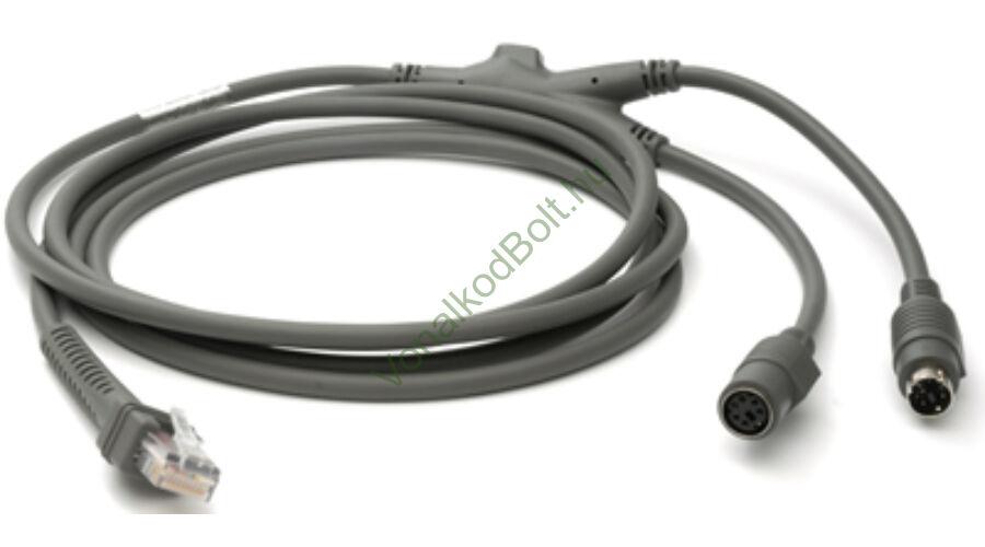 Motorola-Symbol PS2, billentyűzet kábel, 7 láb egyenes